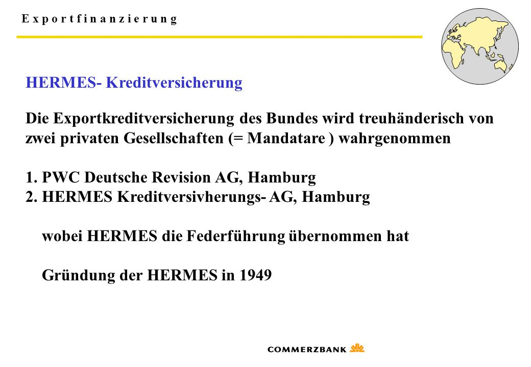 HERMES- Kreditversicherung