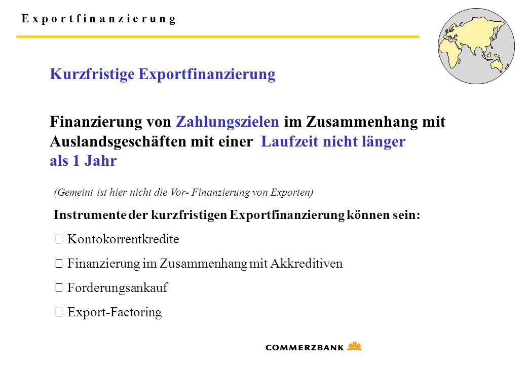 Kurzfristige Exportfinanzierung