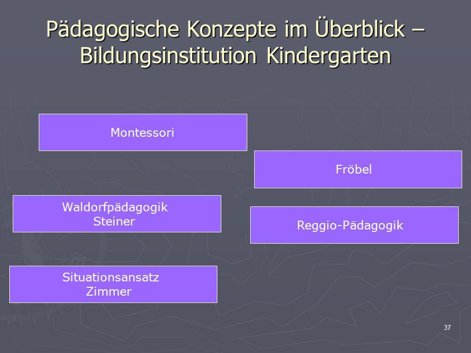 Pädagogische Konzepte im Überblick – Bildungsinstitution Kindergarten