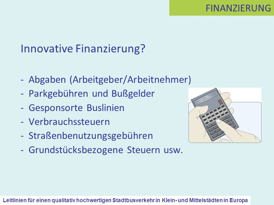 Innovative Finanzierung