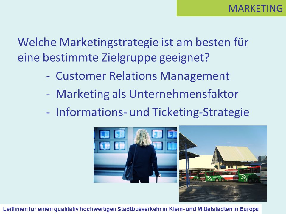 - Customer Relations Management - Marketing als Unternehmensfaktor