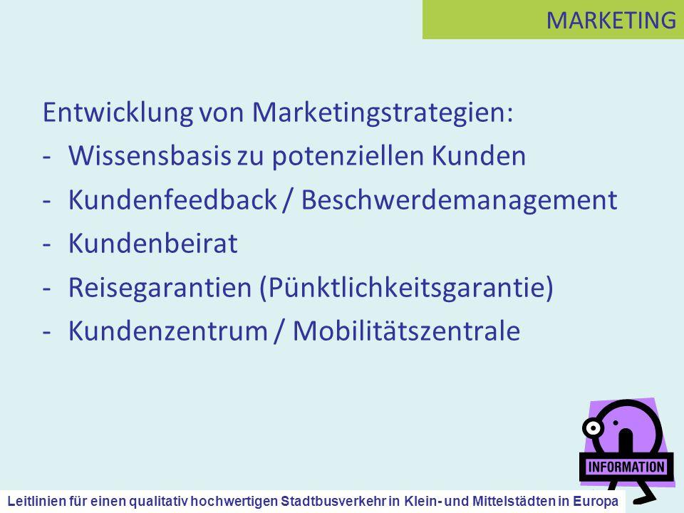 Entwicklung von Marketingstrategien: