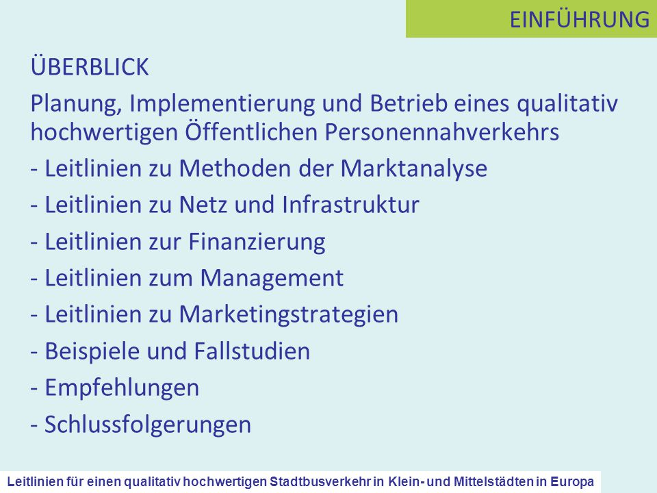 Leitlinien zu Methoden der Marktanalyse