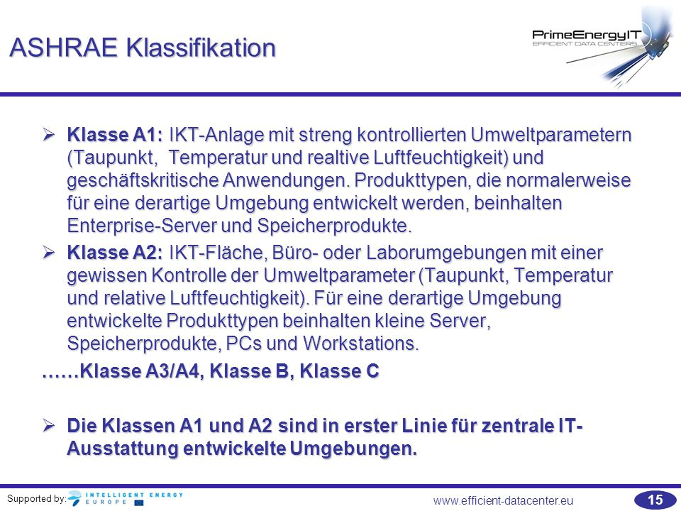 ASHRAE Klassifikation