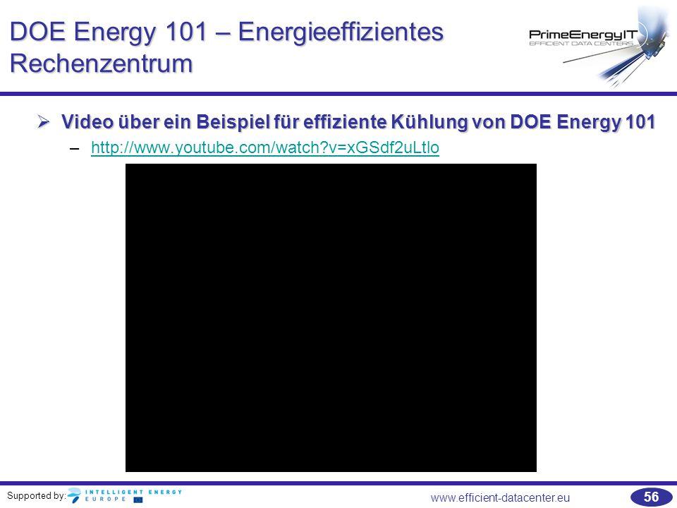 DOE Energy 101 – Energieeffizientes Rechenzentrum