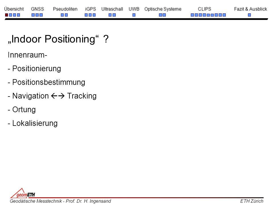 """Indoor Positioning ."