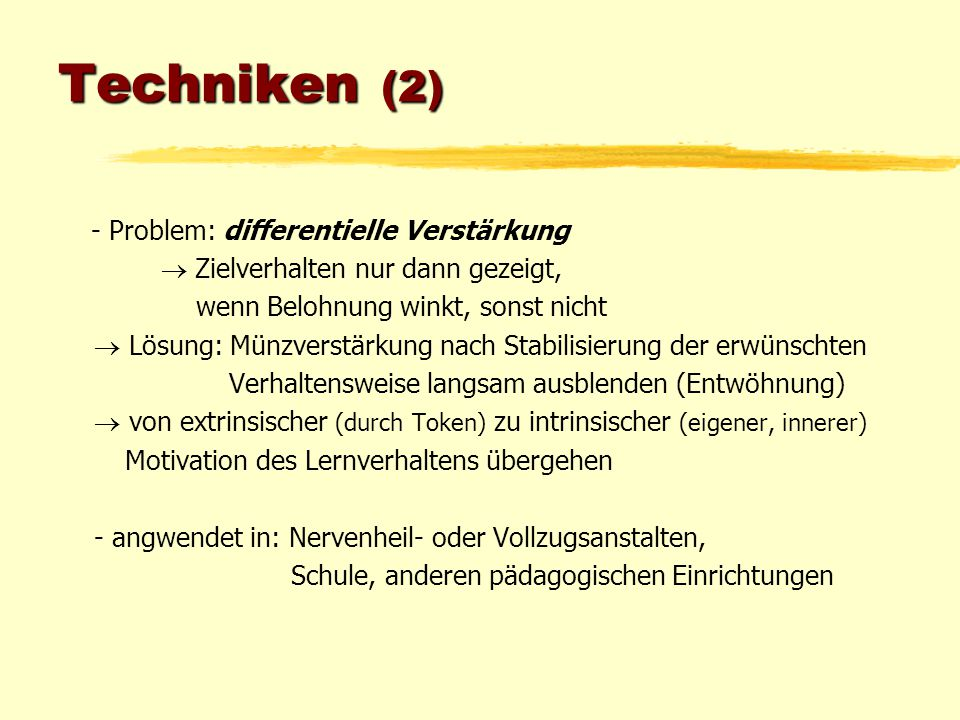 Techniken (2) - Problem: differentielle Verstärkung