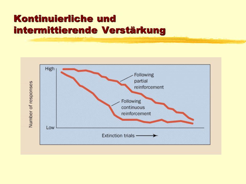 Kontinuierliche und intermittierende Verstärkung