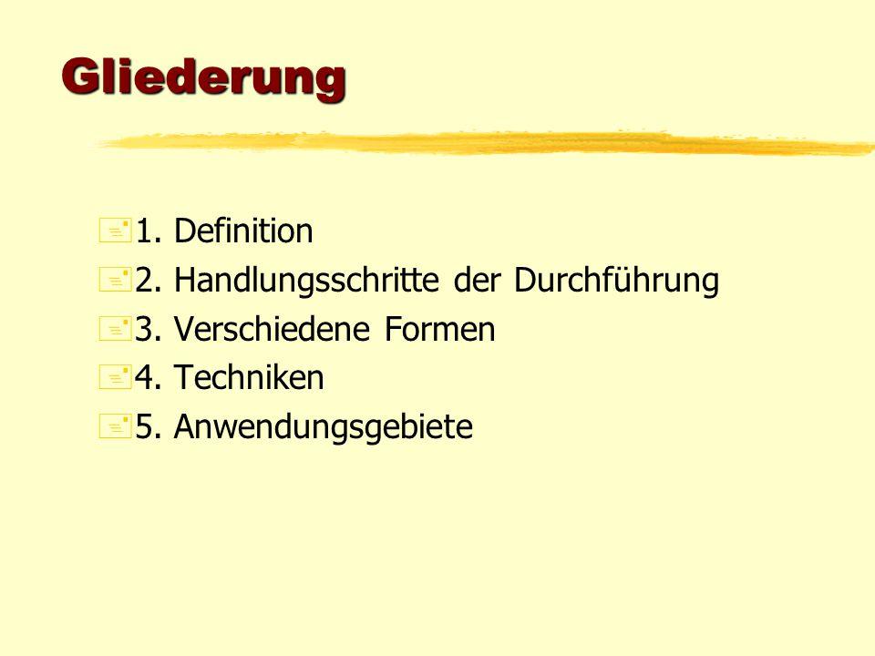 Gliederung 1. Definition 2. Handlungsschritte der Durchführung