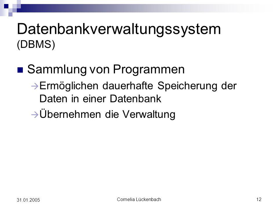 Datenbankverwaltungssystem (DBMS)