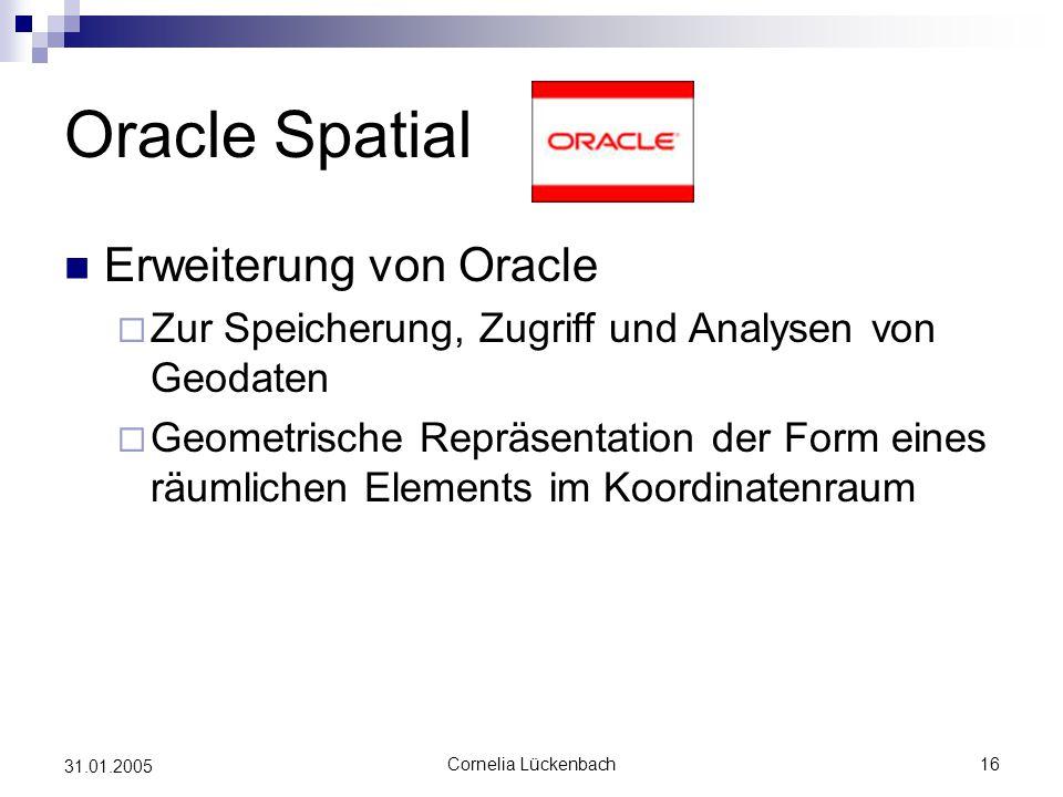 Oracle Spatial Erweiterung von Oracle