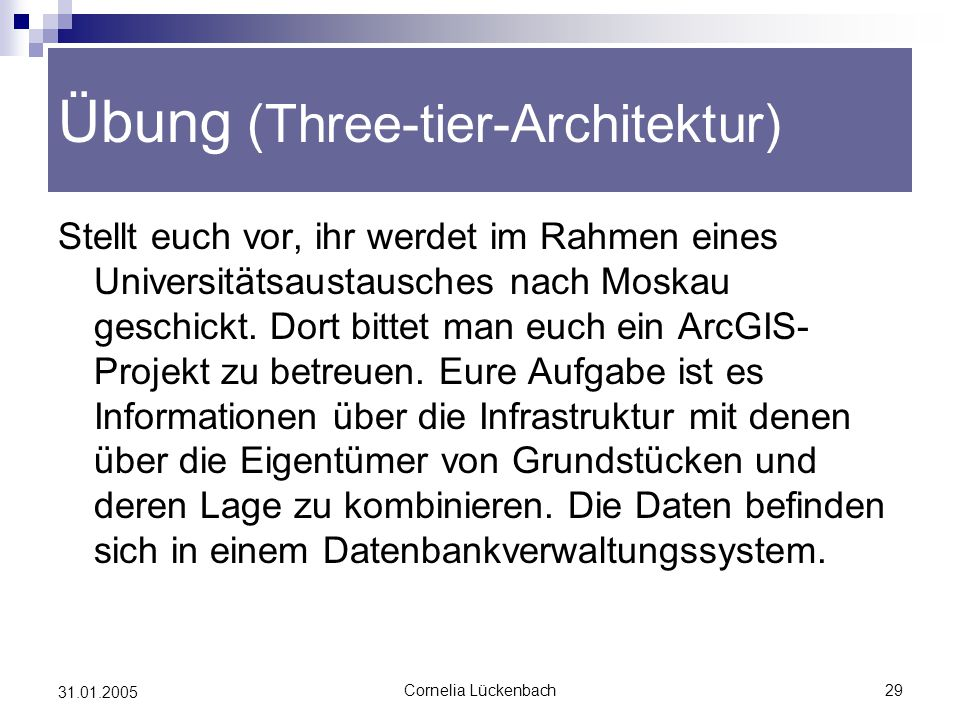 Übung (Three-tier-Architektur)