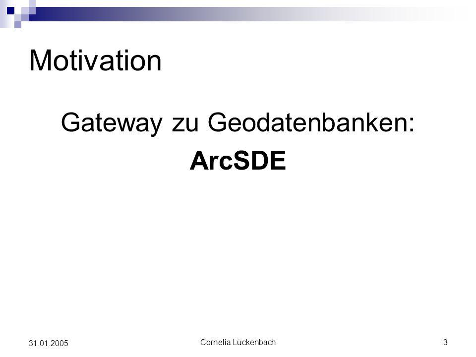 Gateway zu Geodatenbanken: