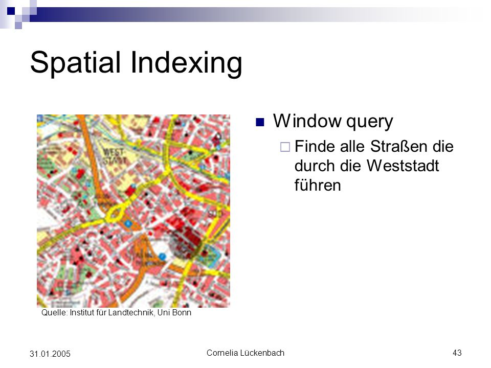 Spatial Indexing Window query