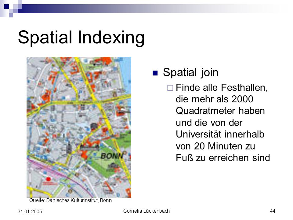 Spatial Indexing Spatial join