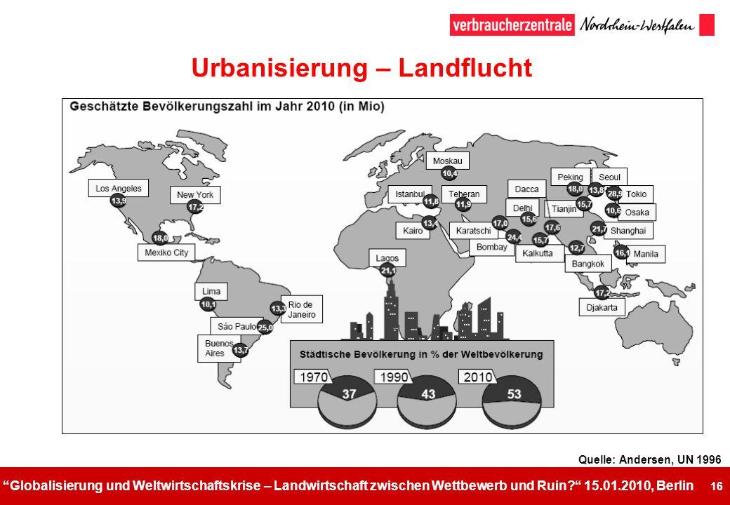 Urbanisierung – Landflucht