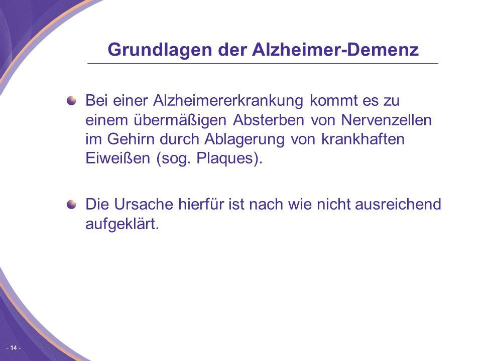 Grundlagen der Alzheimer-Demenz
