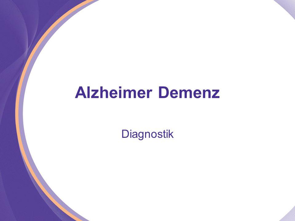 Alzheimer Demenz Diagnostik