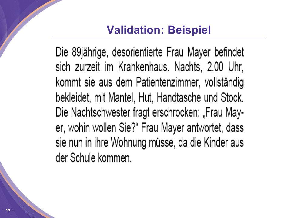Validation: Beispiel