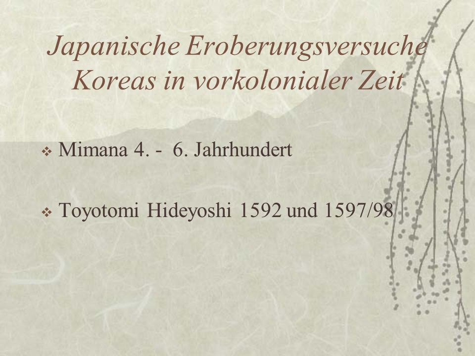 Japanische Eroberungsversuche Koreas in vorkolonialer Zeit
