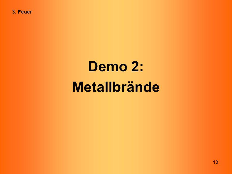 3. Feuer Demo 2: Metallbrände