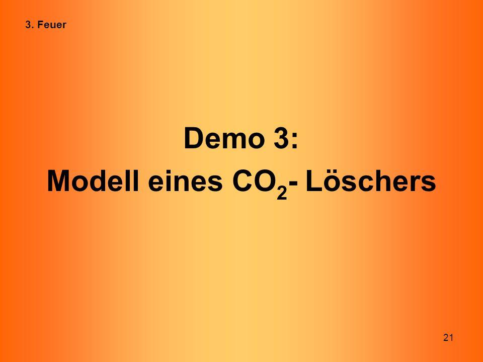 Modell eines CO2- Löschers