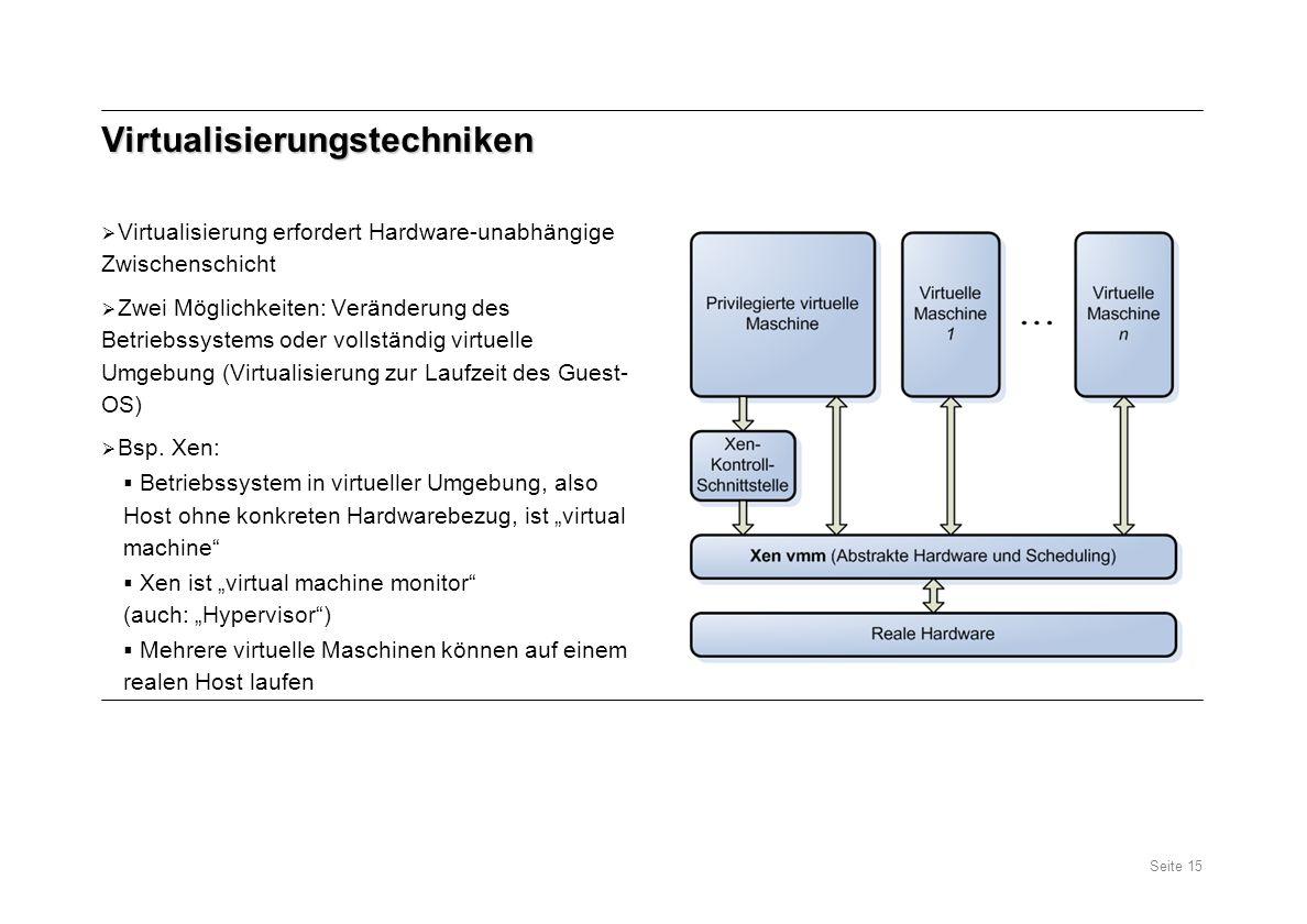 Virtualisierungstechniken