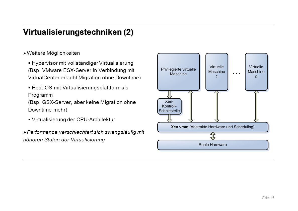 Virtualisierungstechniken (2)