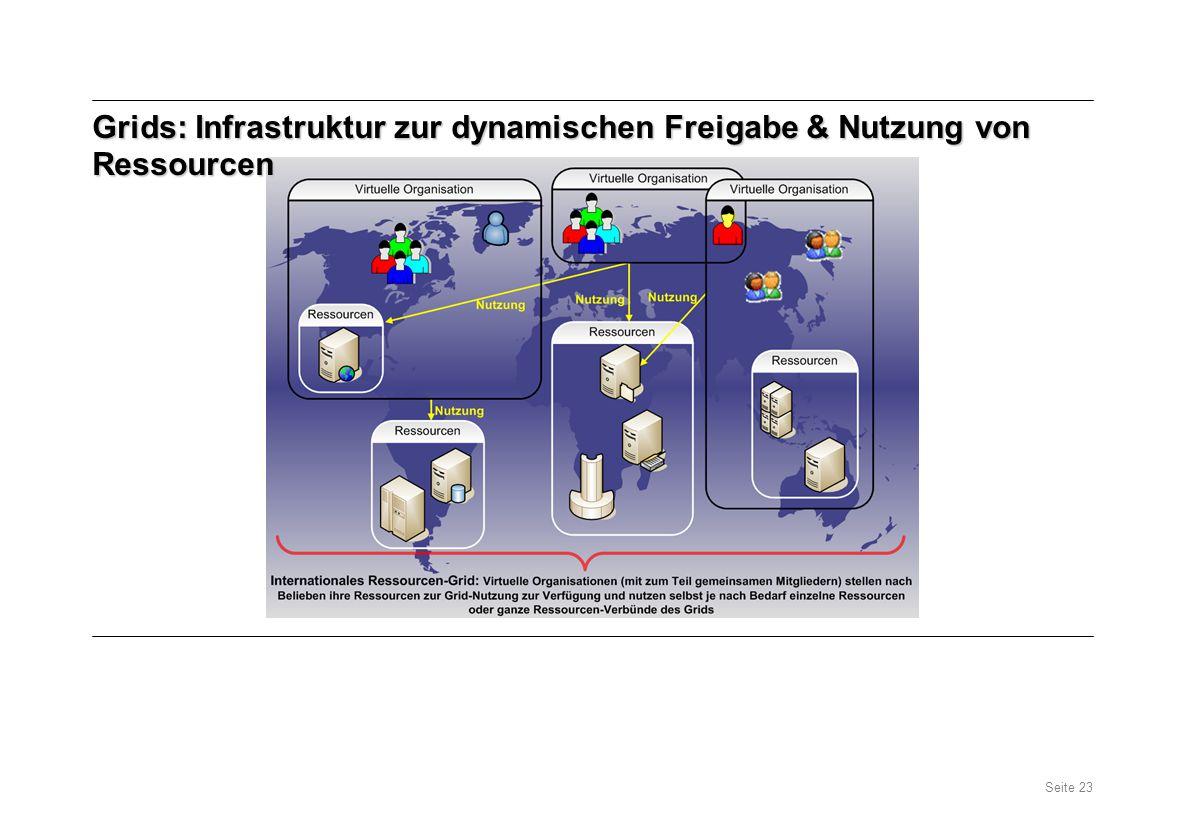 Grids: Infrastruktur zur dynamischen Freigabe & Nutzung von Ressourcen