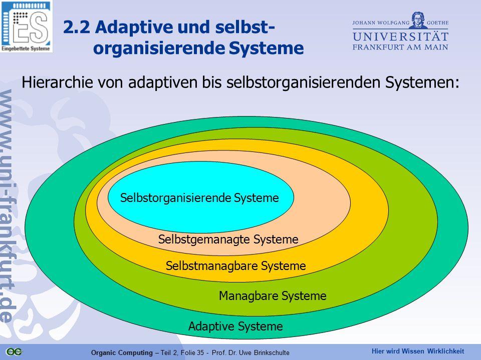 2.2 Adaptive und selbst- organisierende Systeme