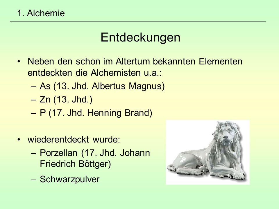 1. Alchemie Entdeckungen