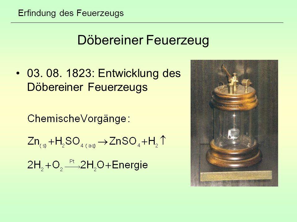 Erfindung des Feuerzeugs Döbereiner Feuerzeug