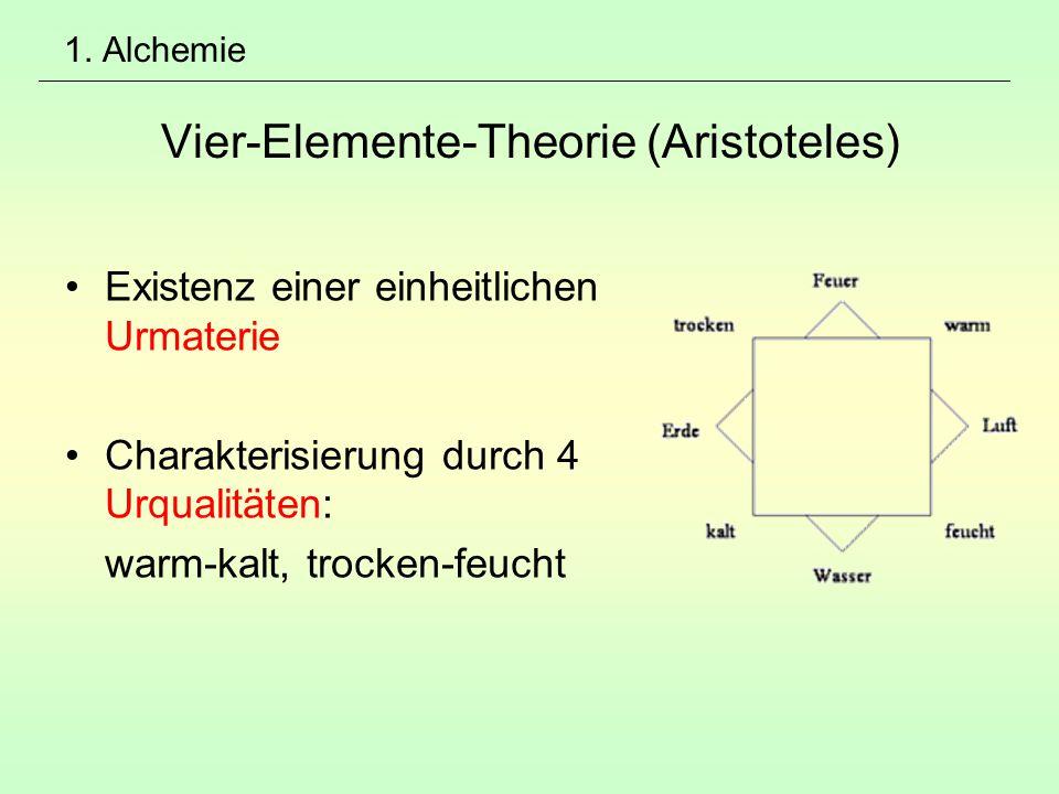 1. Alchemie Vier-Elemente-Theorie (Aristoteles)