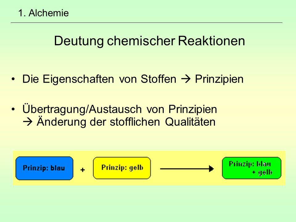 1. Alchemie Deutung chemischer Reaktionen