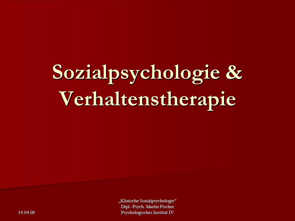 Sozialpsychologie & Verhaltenstherapie