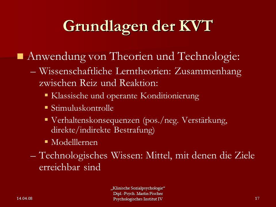 Grundlagen der KVT Anwendung von Theorien und Technologie: