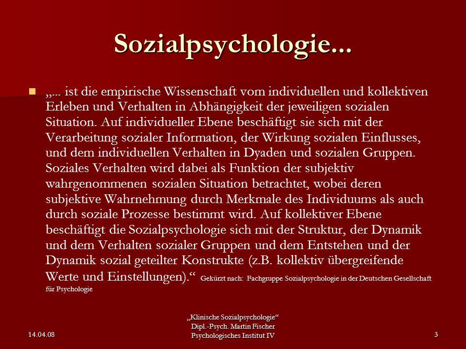 Sozialpsychologie...