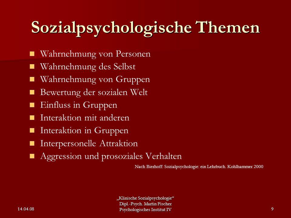 Sozialpsychologische Themen