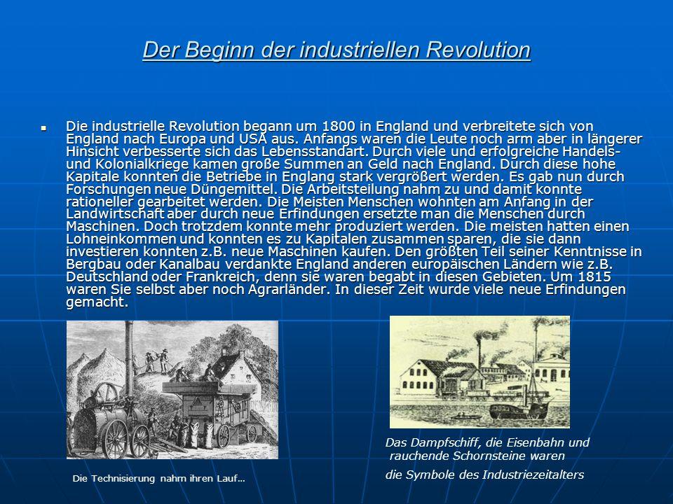 Der Beginn der industriellen Revolution