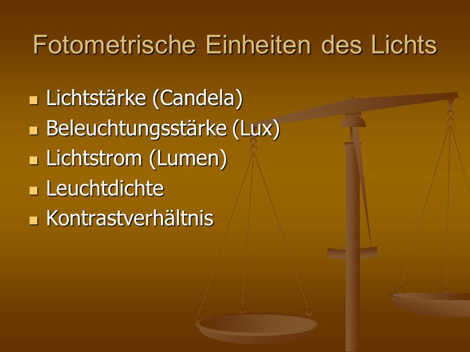 Fotometrische Einheiten des Lichts