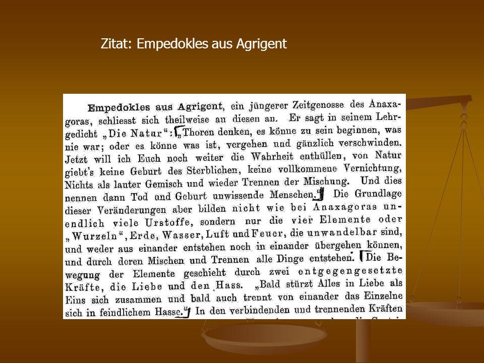 Zitat: Empedokles aus Agrigent