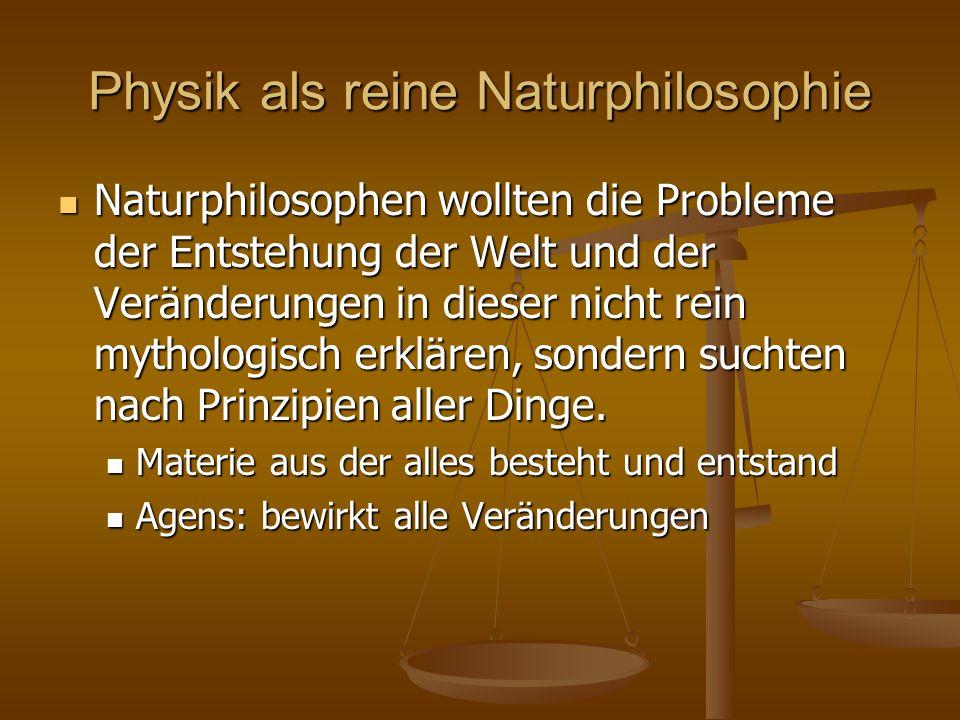 Physik als reine Naturphilosophie
