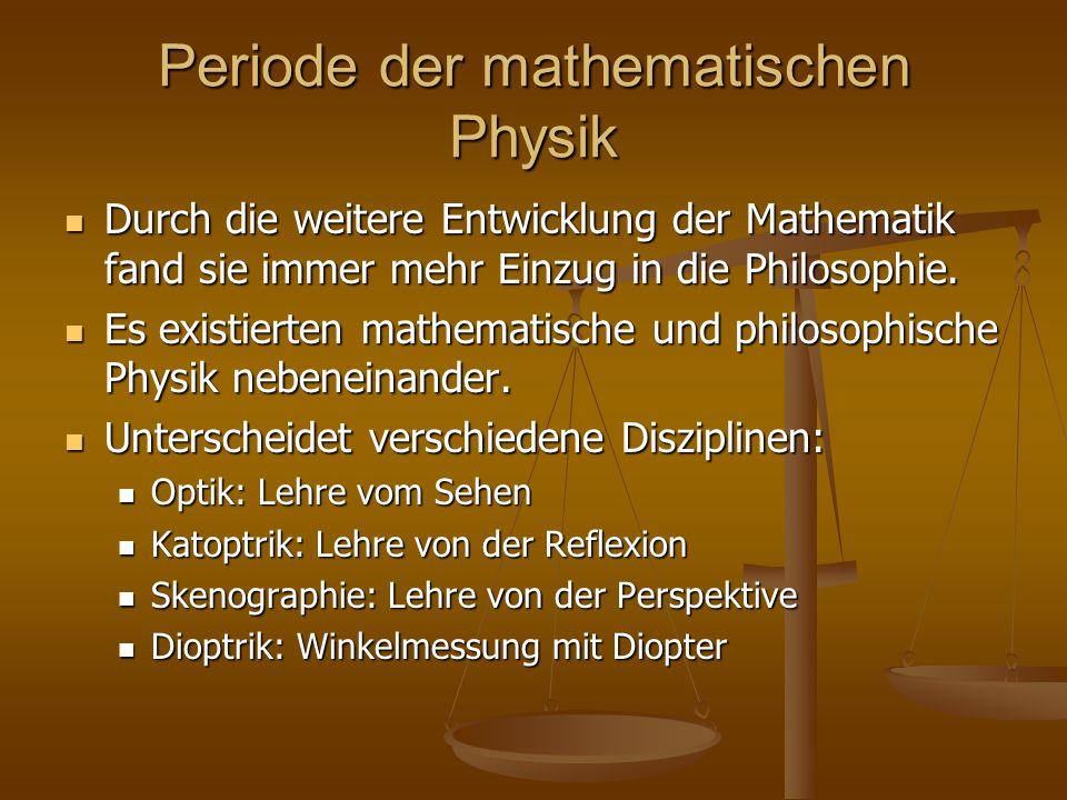 Periode der mathematischen Physik
