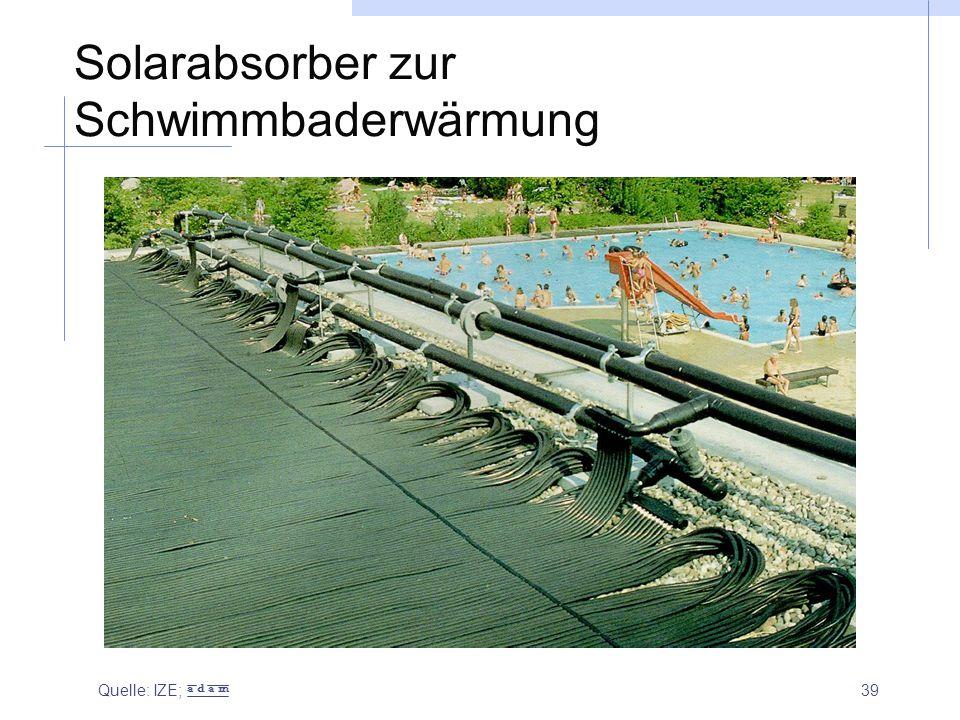 Solarabsorber zur Schwimmbaderwärmung