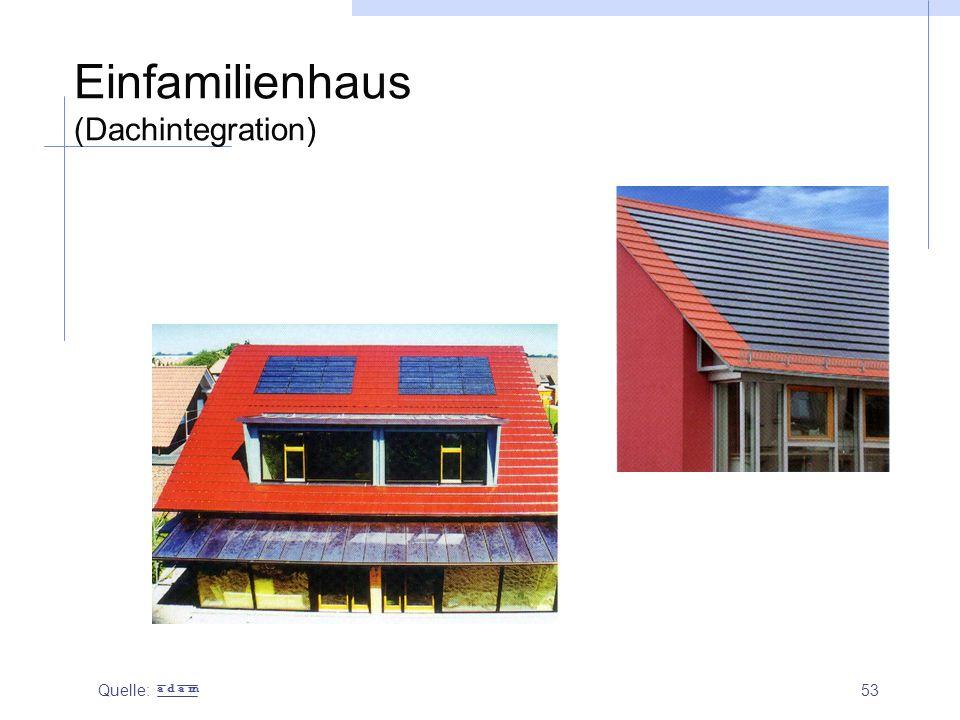 Einfamilienhaus (Dachintegration)