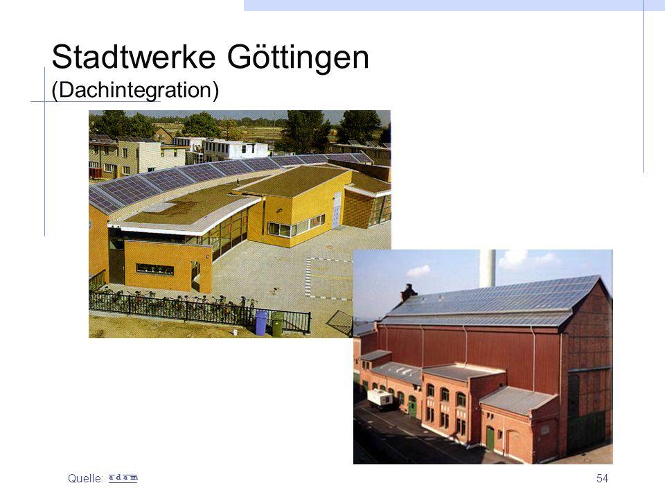 Stadtwerke Göttingen (Dachintegration)