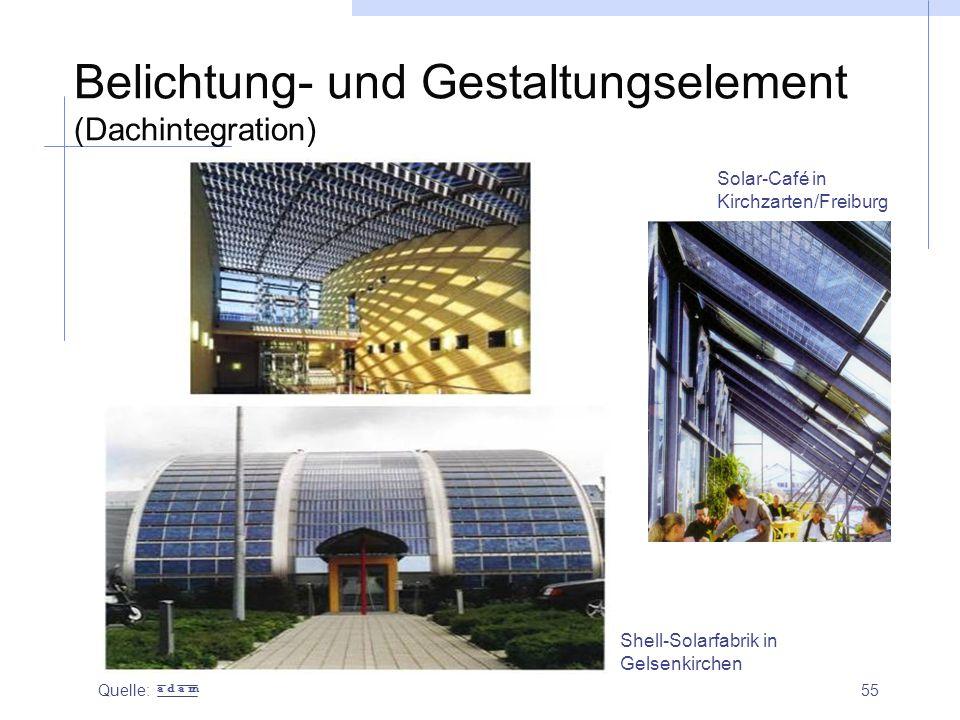 Belichtung- und Gestaltungselement (Dachintegration)