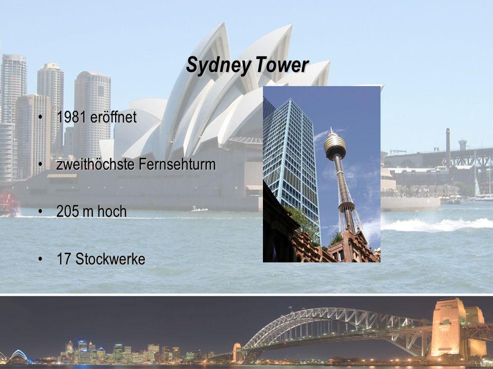 Sydney Tower 1981 eröffnet zweithöchste Fernsehturm 205 m hoch