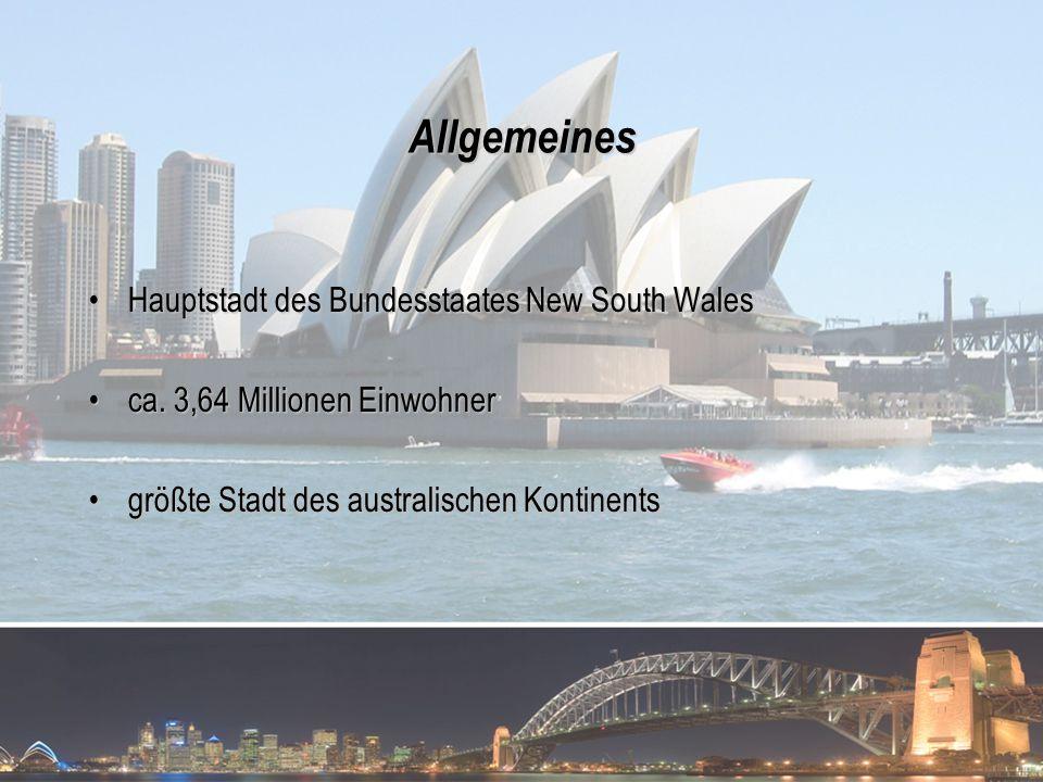 Allgemeines Hauptstadt des Bundesstaates New South Wales