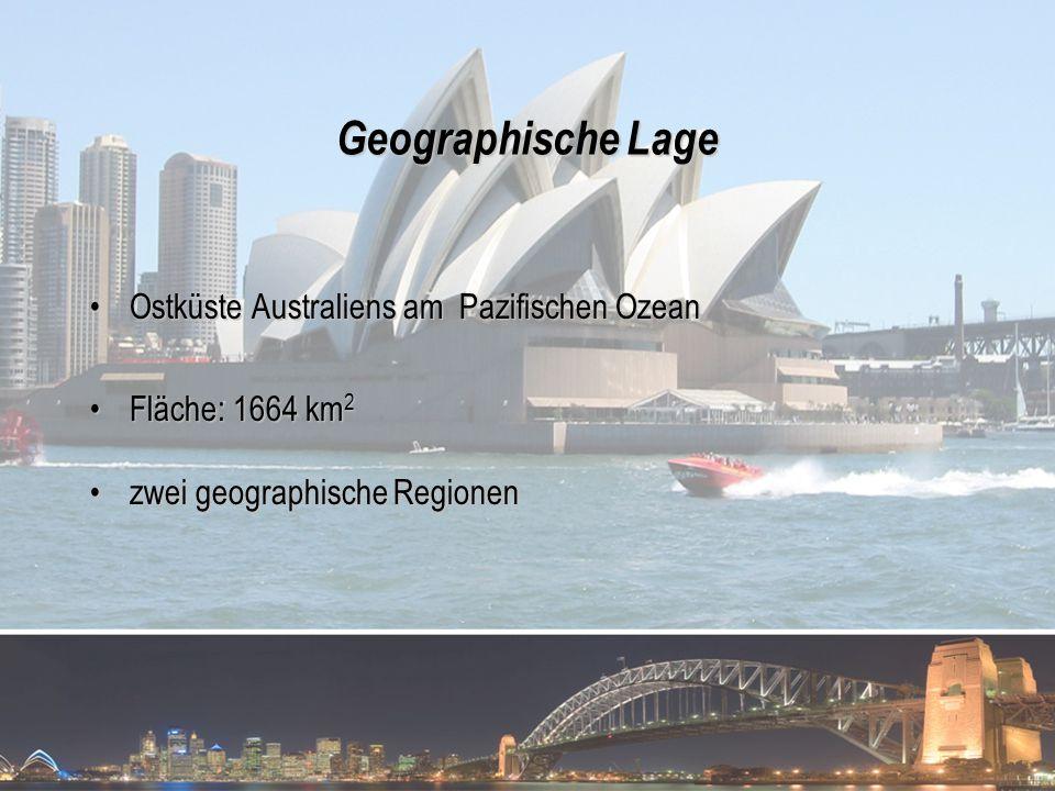 Geographische Lage Ostküste Australiens am Pazifischen Ozean